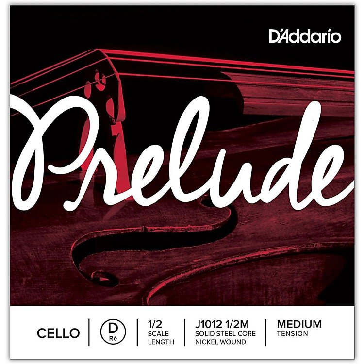 D'Addario Prelude Cello D String  1/2 Size