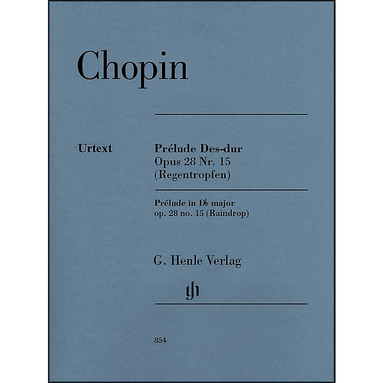 G. Henle Verlag Prelude D Flat Major Op. 28. No. 15 (Raindrop) Piano By Chopin
