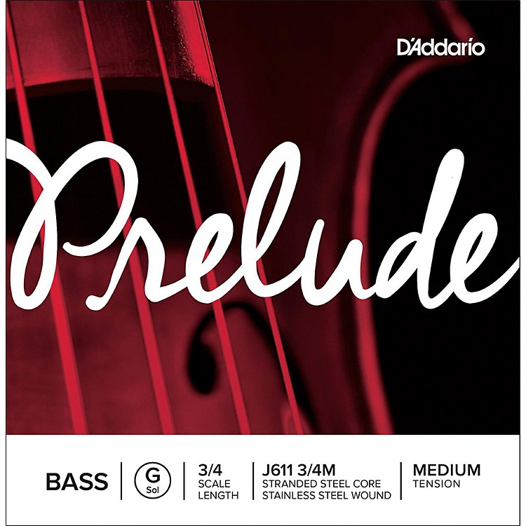 D'Addario Prelude Series Double Bass G String 1/2 Size