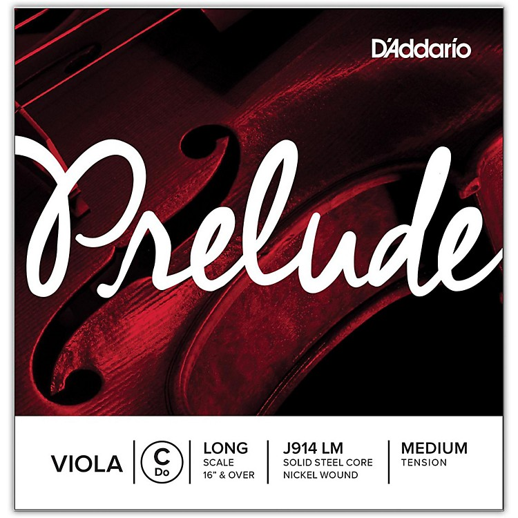 D'Addario Prelude Series Viola C String  16+ Long Scale