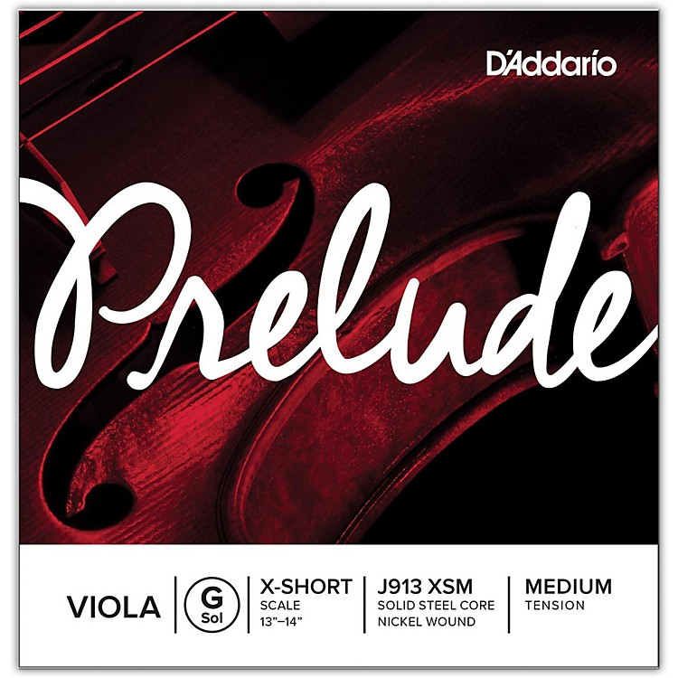 D'Addario Prelude Series Viola G String 12 Extra Short Scale