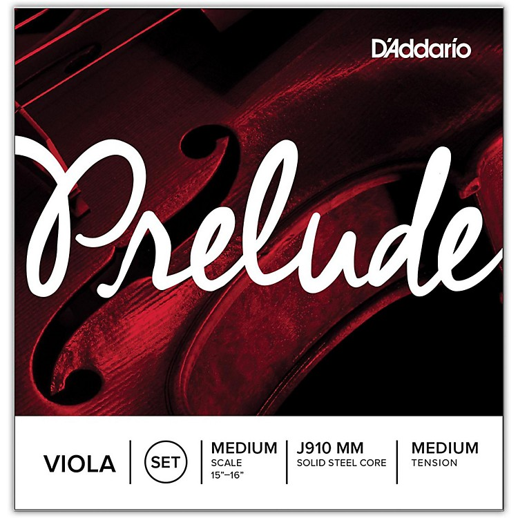 D'Addario Prelude Series Viola String Set  13-14 Short Scale