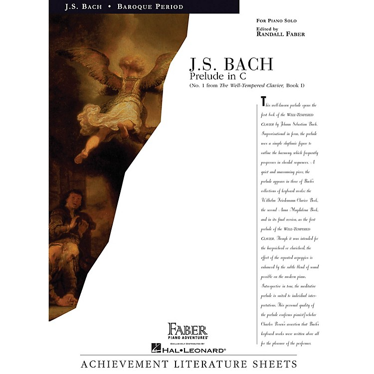 Faber Piano AdventuresPrelude in C Faber Piano Adventures® Series Composed by Johann Sebastian Bach