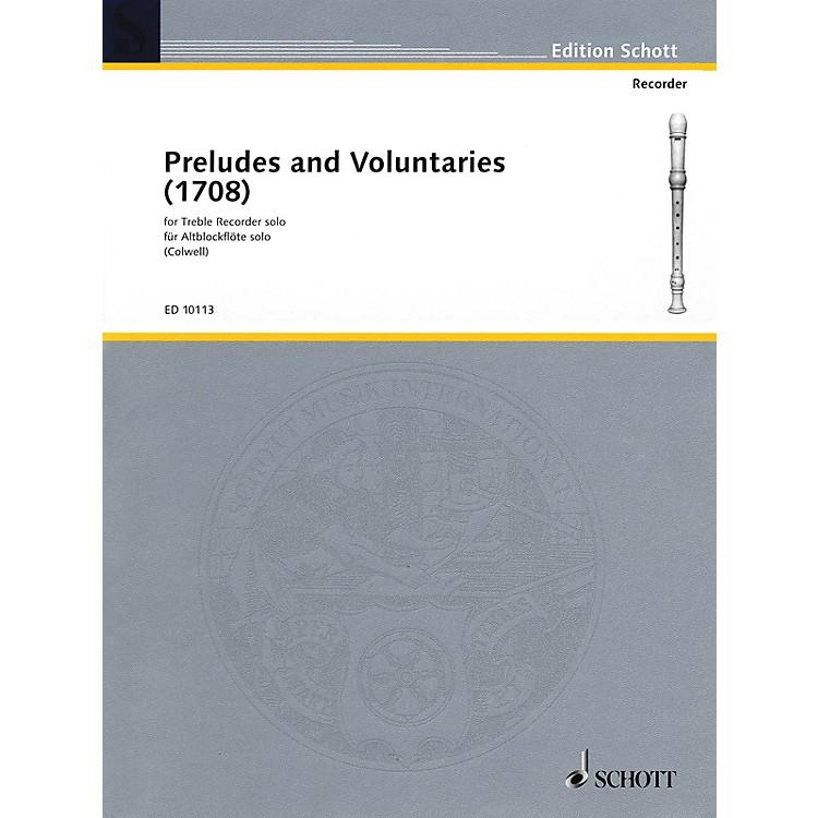 SchottPreludes and Voluntaries (for Treble Recorder) Schott Series