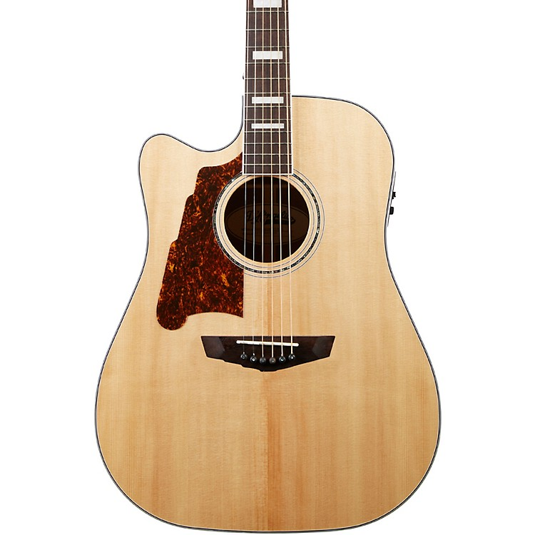 D'AngelicoPremier Bowery Left-Handed Dreadnought Acoustic-Electric GuitarNatural