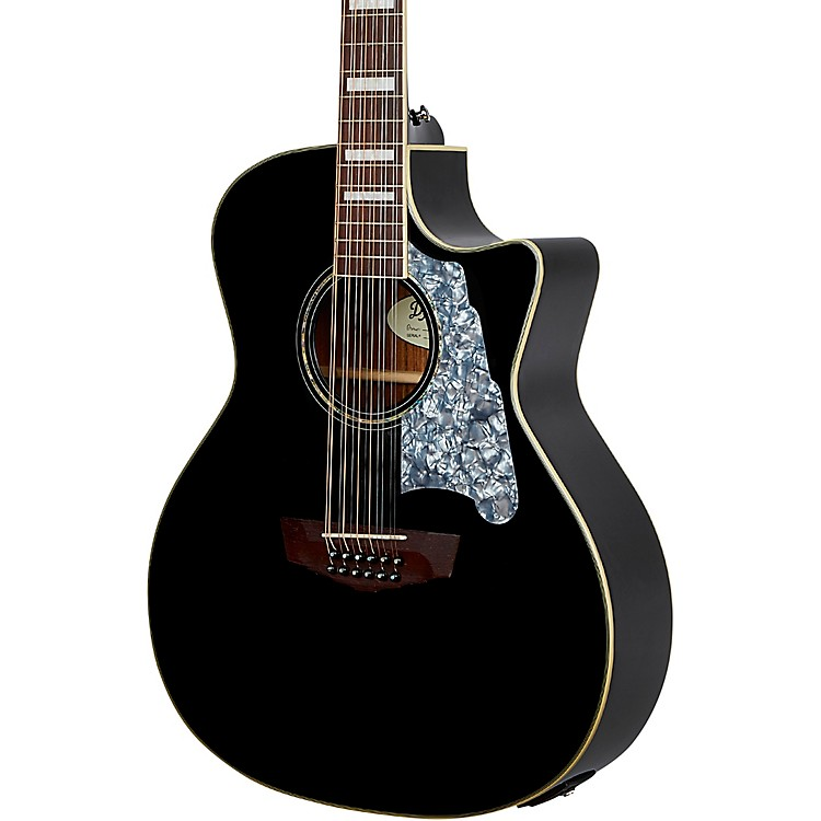 D'AngelicoPremier CS Series Fulton Grand Auditorium 12-String Acoustic-Electric GuitarBlack