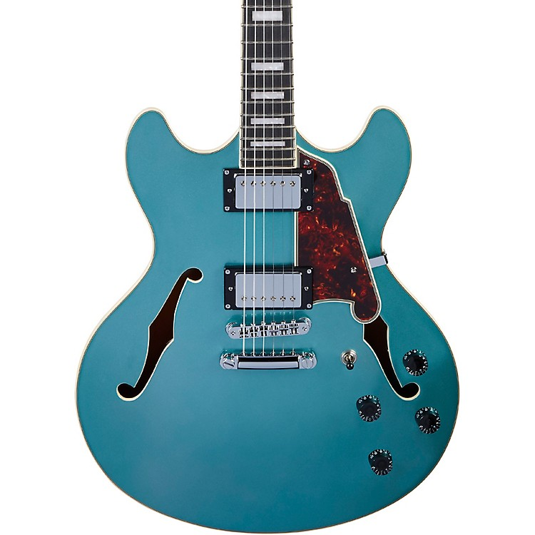 D'AngelicoPremier DC Semi-Hollow Electric Guitar with Stopbar TailpieceOcean Turquoise