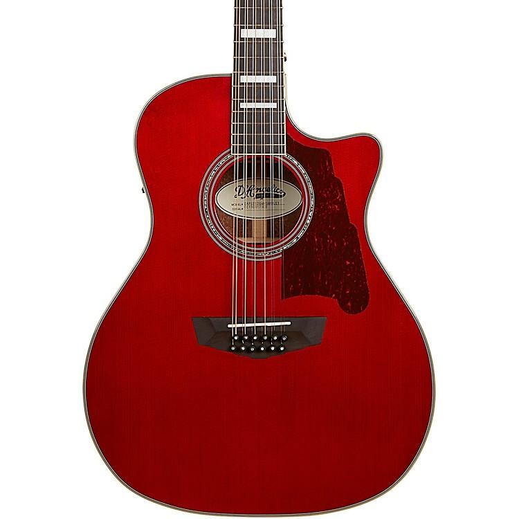 D'AngelicoPremier Fulton Grand Auditorium 12-String Acoustic-Electric GuitarTransparent Wine Red