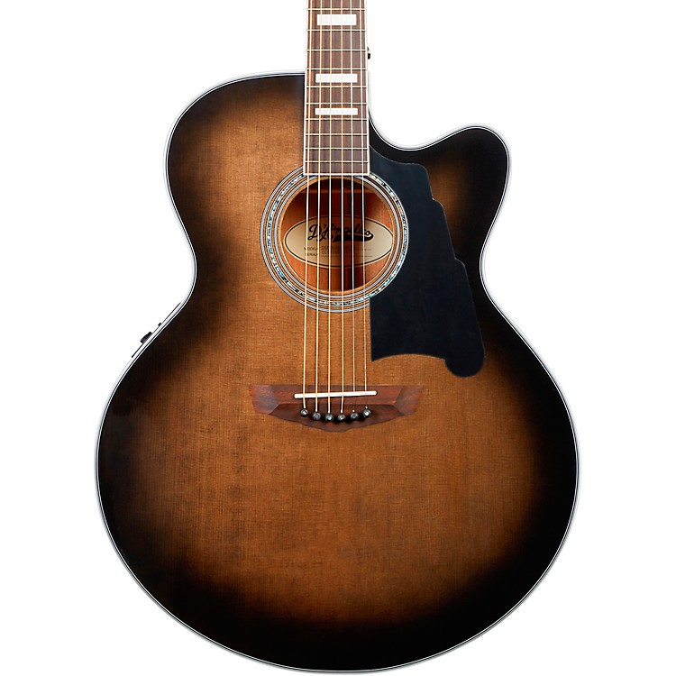 D'AngelicoPremier Madison Jumbo Acoustic-Electric GuitarGrey Black
