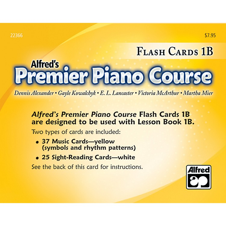 AlfredPremier Piano Course Flash Cards Level 1B