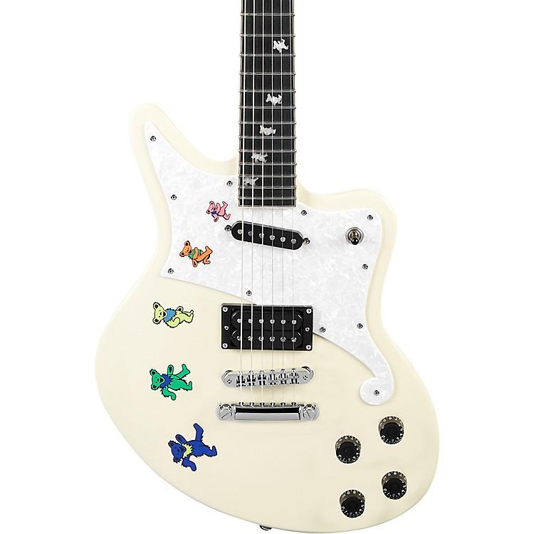 D'AngelicoPremier Series Bedford Grateful Dead Special Edition Electric GuitarAntique White