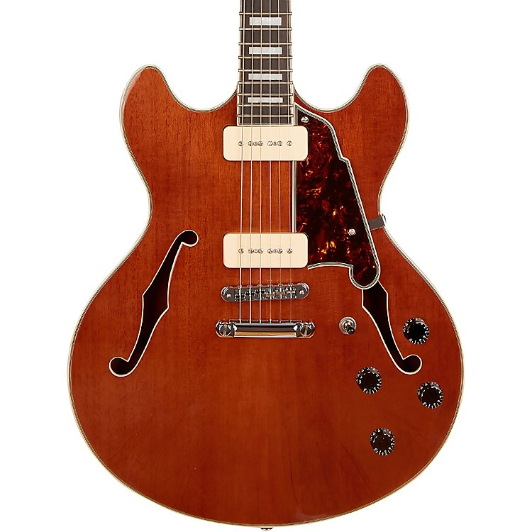 D'AngelicoPremier Series DC Boardwalk Semi-Hollow Electric Guitar with Seymour Duncan P90sWalnut Stain