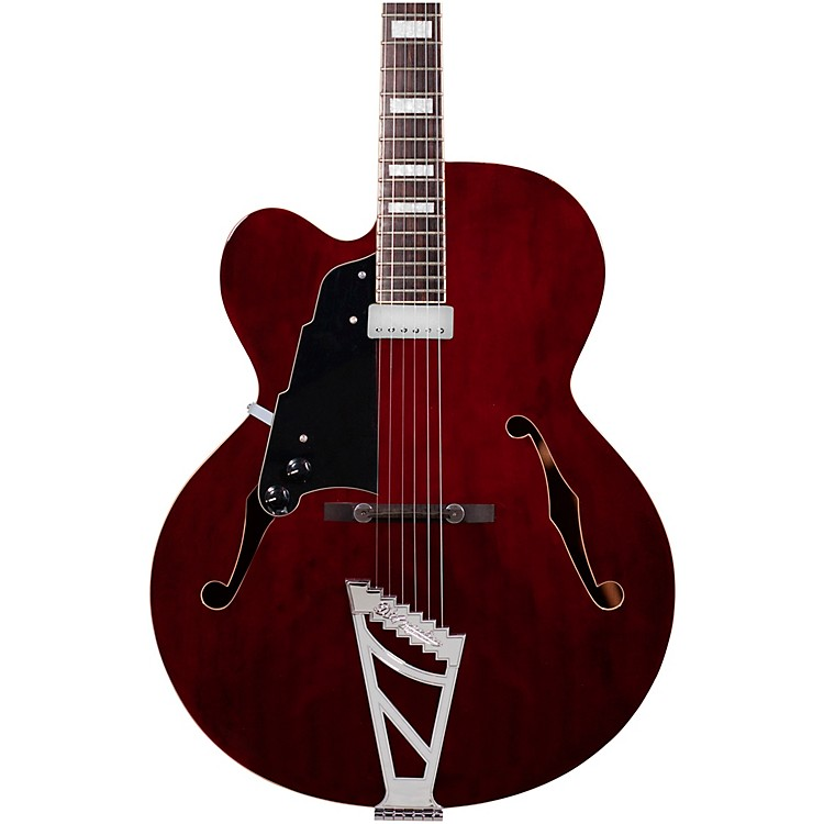 D'AngelicoPremier Series EXL-1 Left-Handed Hollowbody Electric Guitar Stairstep TailpieceTransparent Wine