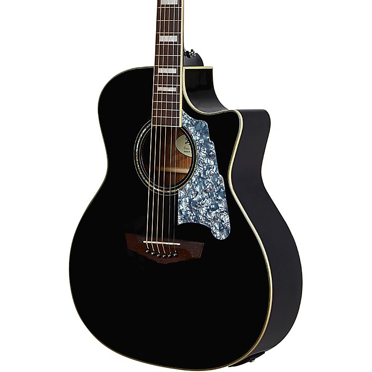 D'AngelicoPremier Series Gramercy CS Grand Auditorium Acoustic-Electric GuitarBlack