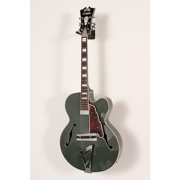 D'AngelicoPremier Series Limited Edition EXL-1 Hollowbody Electric GuitarArmy GreenTortoise Pickguard