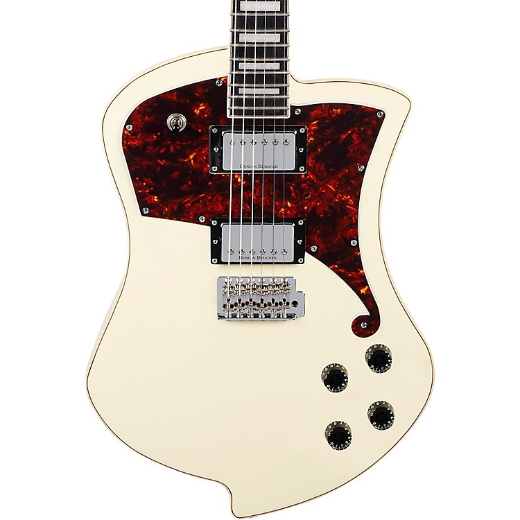 D'Angelico Premier Series Ludlow Electric Guitar with Tremolo Tailpiece Antique White
