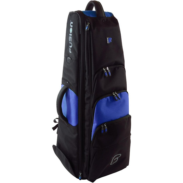 Fusion Premium Bass Trombone Bag Black and Blue