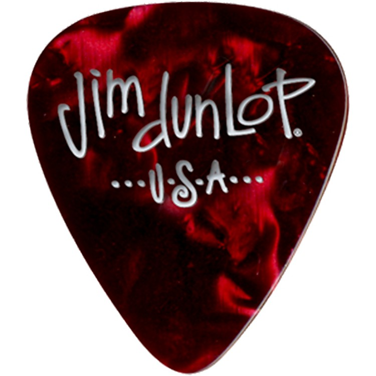 Dunlop Premium Celluloid Classic Guitar Picks 1 Dozen Red Pearloid Heavy
