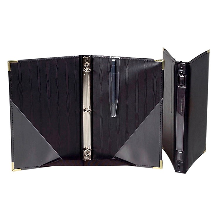 Marlo PlasticsPremium Choral Folder 7-3/4 x 11 Octavo Size with 3-Ring Binder - Black