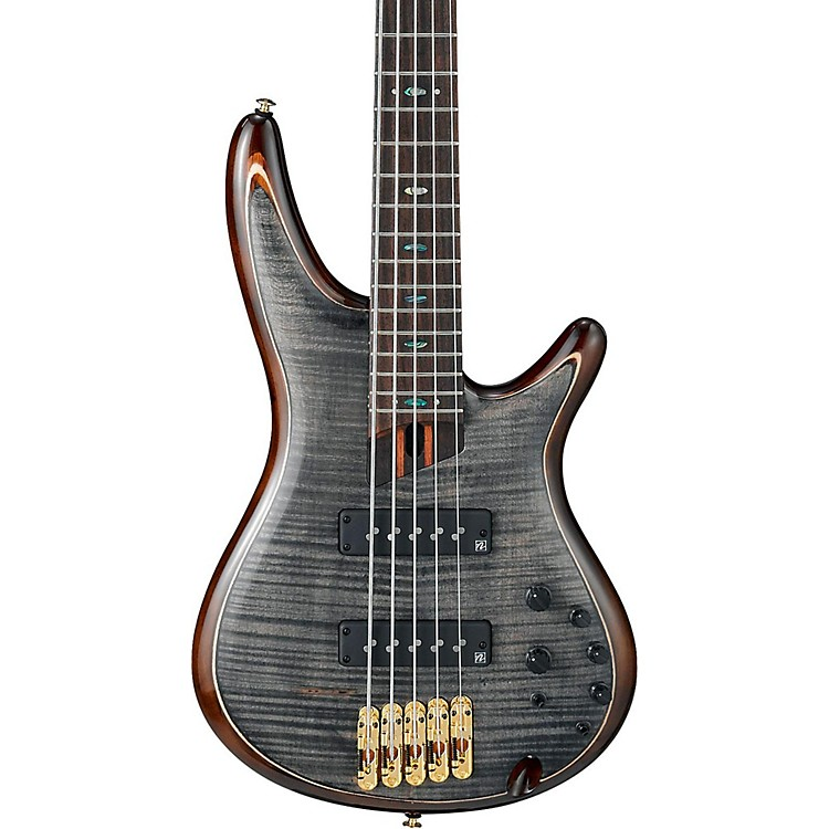 IbanezPremium SR1405E 5-String Electric Bass GuitarTransparent Gray Black