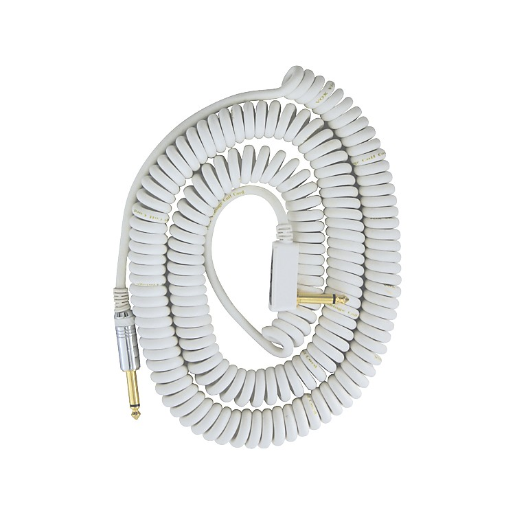 VoxPremium Vintage Coil Guitar Cable Assorted ColorsWhite9 Meters