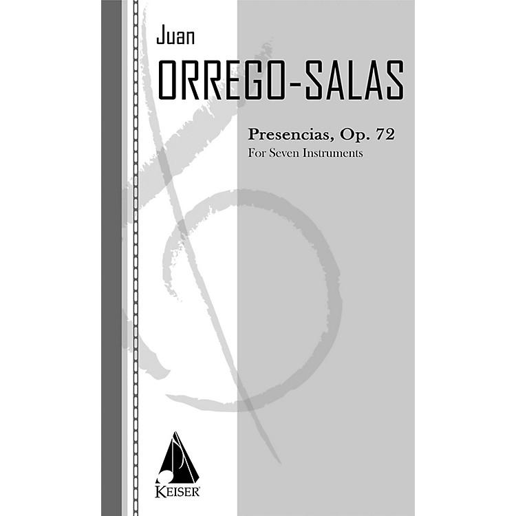 Lauren Keiser Music PublishingPresencias, Op. 72 (for Chamber Ensemble) LKM Music Series Composed by Juan Orrego-Salas
