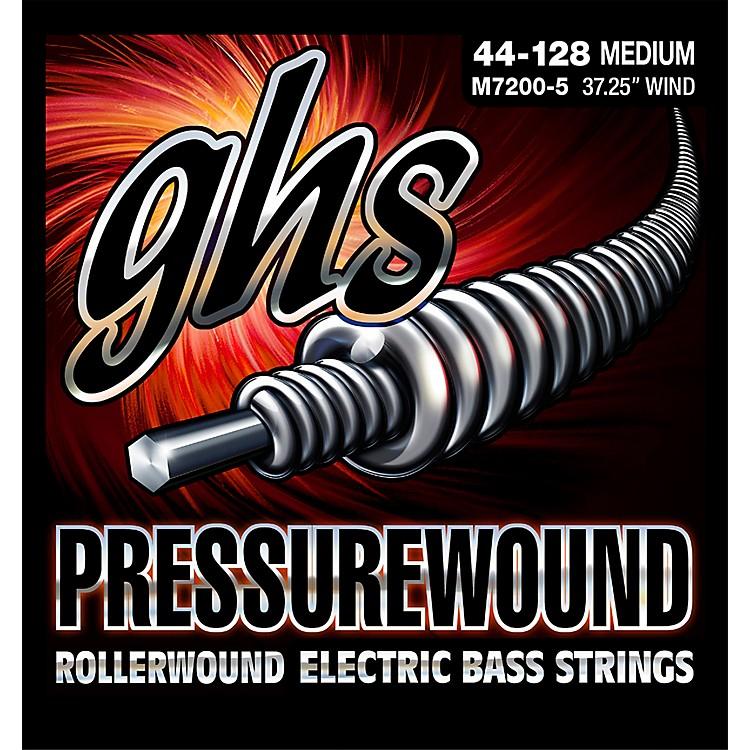 GHSPressurewound Rollerwound Electric Bass Strings Med 44-128