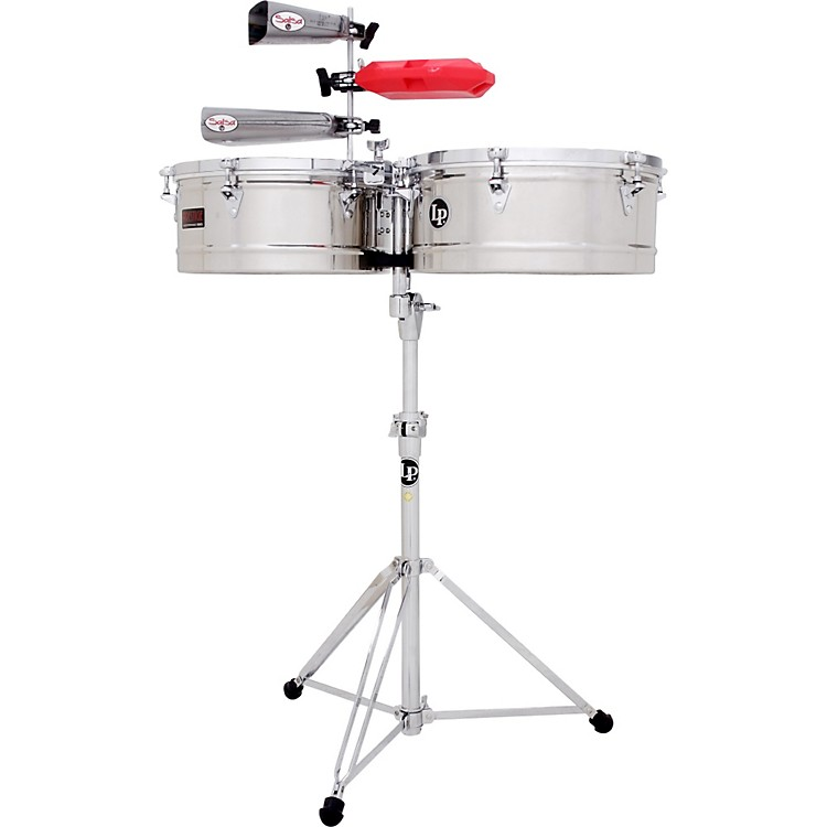 LP Prestige Series Stainless Steel Timbales 15 and 16 in.