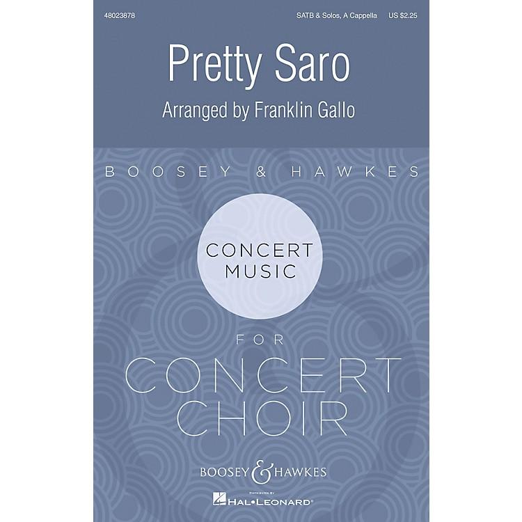 Boosey and HawkesPretty Saro SATB a cappella arranged by Franklin Gallo