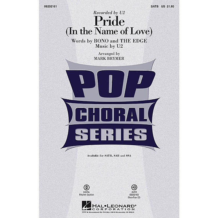 Hal LeonardPride (In the Name of Love) SSA by U2 Arranged by Mark Brymer