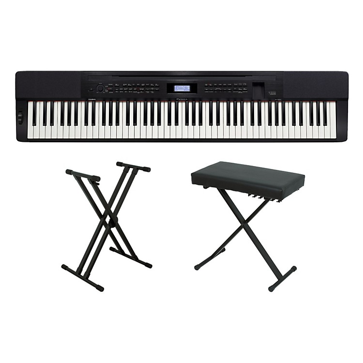 Casio privia px 350 digital piano with bench and stand music123 Keyboard stand and bench