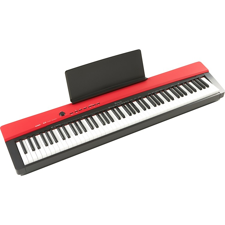 casio privia px130 88 key digital keyboard red music123. Black Bedroom Furniture Sets. Home Design Ideas
