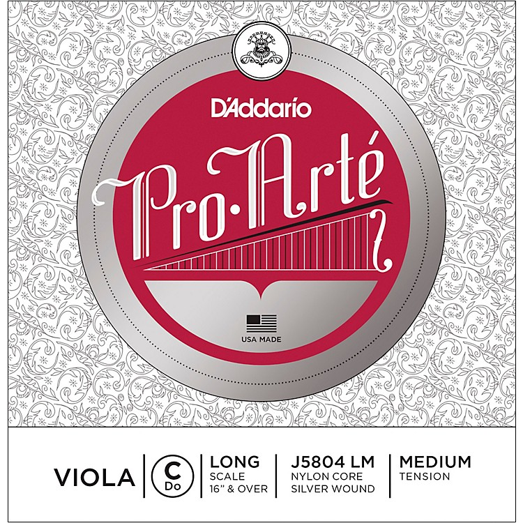 D'AddarioPro-Art Series Viola C String16+ Long Scale Silver