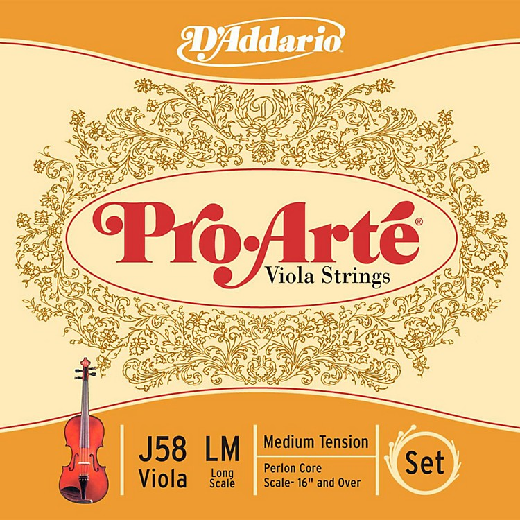 D'Addario Pro-Art Series Viola String Set 16+ Long Scale