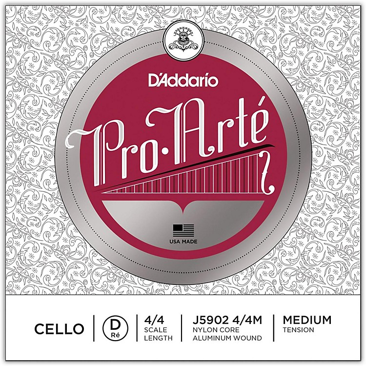 D'AddarioPro-Arte Series Cello D String3/4 Size
