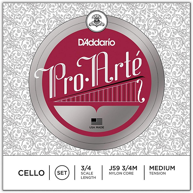 D'Addario Pro-Arte Series Cello String Set 3/4 Size