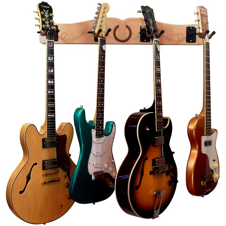 A&S Crafted ProductsPro-File Wall Mounted 4 Guitar Hanger