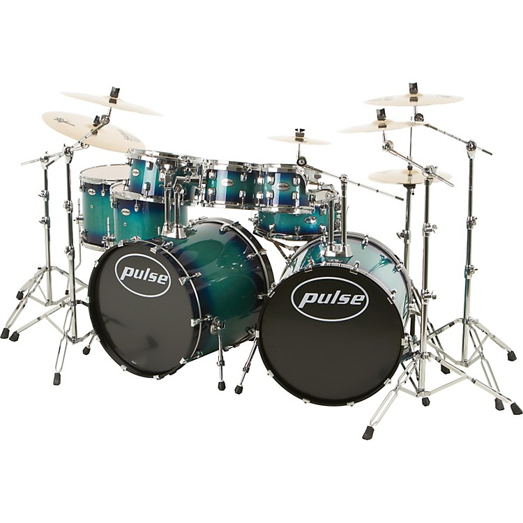 Pulse Pro Maple 8-Piece Double Bass Drum Shell Pack Blue Burst