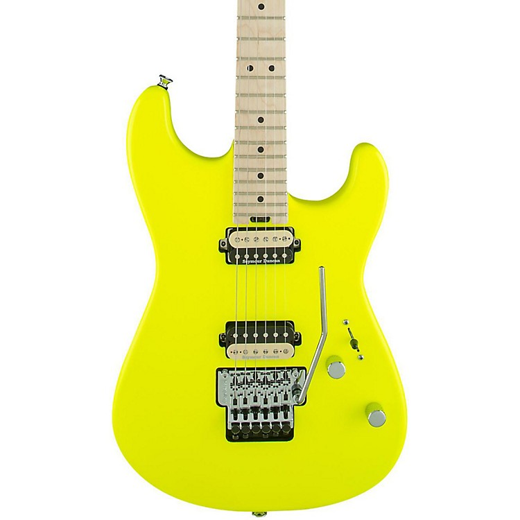 CharvelPro Mod San Dimas Style 1 2H FR Electric GuitarNeon Yellow