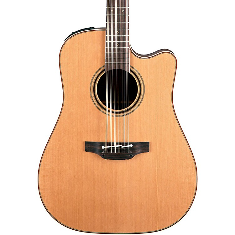 TakaminePro Series 3 Dreadnought Cutaway 12-String Acoustic Electric GuitarNatural