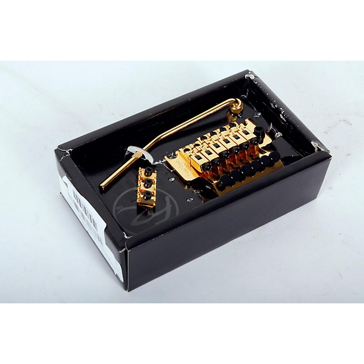 Floyd Rose Pro Series Tremolo Bridge with R2 Nut Gold 888365776590
