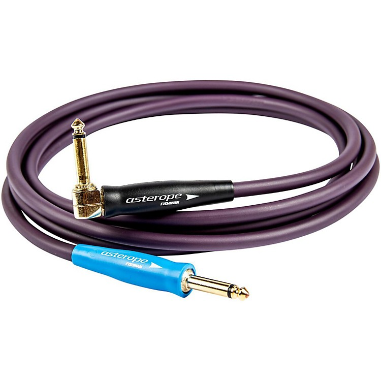 Asterope Pro Studio 1/4 Inch Right to Straight Instrument Cable Purple 20 ft.