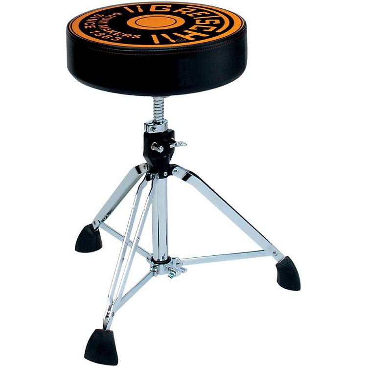 Gretsch DrumsPro Throne with Gretsch Round Badge Logo Seat Top