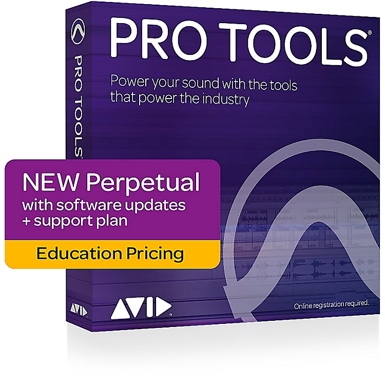 AvidPro Tools NEW Perpetual License with 1-Year of Updates + Support for Students/Teachers (Boxed)