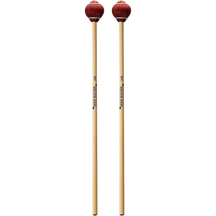 Mike Balter Pro Vibe Series Rattan Mallets 24 Red Cord Soft