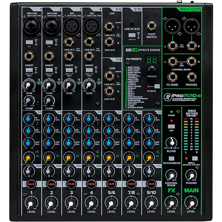 MackieProFX10v3 ProFX10v3 10-Channel Professional Effects Mixer with USB