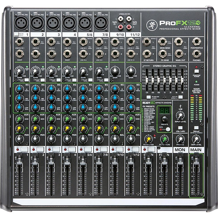 MackieProFX12v2 12-Channel Professional FX Mixer with USB