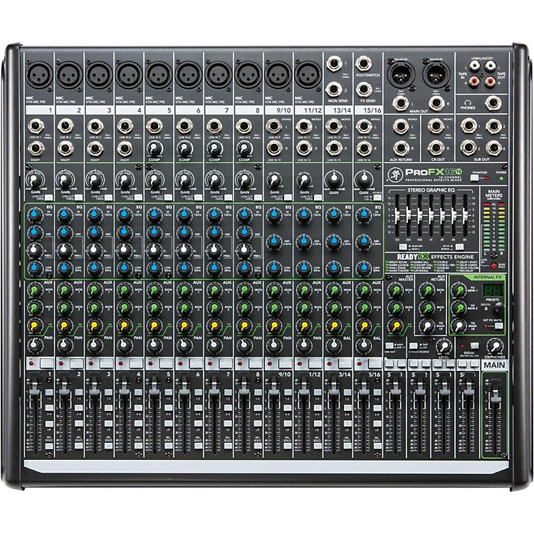 MackieProFX16v2 16-Channel 4-Bus FX Mixer with USB