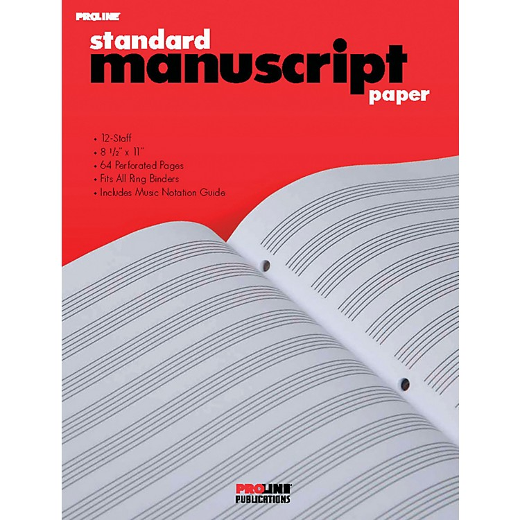 ProlineProLine Standard Manuscript Paper