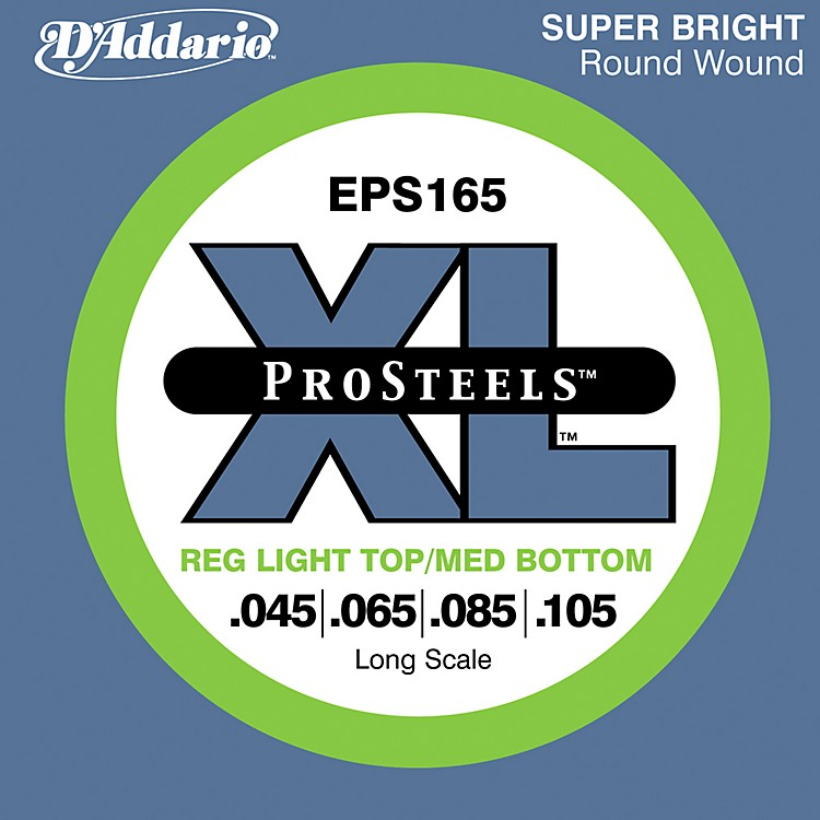 D'AddarioProSteels EPS165 Light Top/Medium Bottom Long Scale Bass Strings